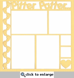 Pitter Patter... 12 x 12 Overlay Laser Die Cut