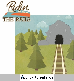 Planes & Trains: Ridin' The Rails 2 Piece Laser Die Cut Kit