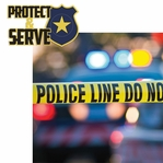 Police: Protect & Serve 2 Piece Laser Die Cut Kit