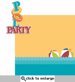 Pool Party: Pool Party 2 Piece Laser Die Cut Kit