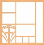 Praise God Cross 12 x 12 Overlay Laser Die Cut