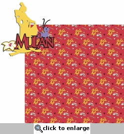 Princesses: Mulan 2 Piece Laser Die Cut Kit