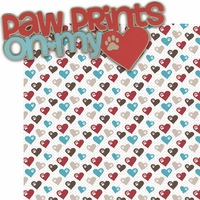 Puppy Love 2: Paw Prints On My Heart 2 Piece Laser Die Cut Kit