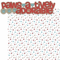 Puppy Love 2: Paws-A-Tively Adorable 2 Piece Laser Die Cut Kit