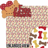 Puppy Love: Free Kisses 2 Piece Laser Die Cut Kit