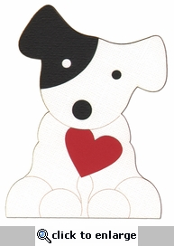 Puppy With Heart Laser Die Cut-<font color=red> <b>we &hearts; this</b></font>