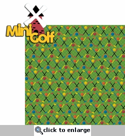Putt Putt: Mini Golf 2 Piece Laser Die Cut Kit