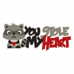 Raccoon: You Stole My Heart Laser Die Cut