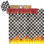 Race Fan: Start Your Engines Laser Die Cut Kit