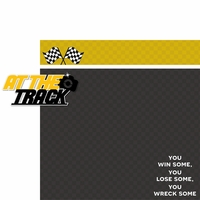 Racecar: At The Track 2 Piece Laser Die Cut Kit