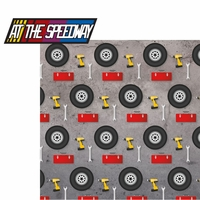 Racing Season: At The Speedway 2 Piece Laser Die Cut Kit