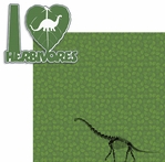 Rawr!: I Heart Herbivores 2 Piece Laser Die Cut Kit