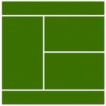 Real Sports: Tennis Court 12 x 12 Double-Sided Paper