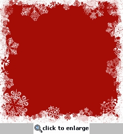 Red Snowflake Border 12 x 12 Paper