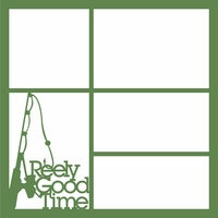Reely Good Time 12 x 12 Overlay Laser Die Cut