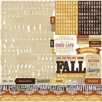 Reflections Fall: Alpha Cardstock Stickers 12 x 12