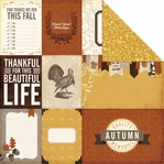 Reflections Fall: Count Your Blessings 12 x 12 Double-Sided Cardstock