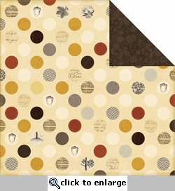 Reflections Fall: Fall Dots 12 x 12 Double-Sided Cardstock