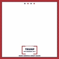 Register to Vote: Trump 12 x 12 Paper