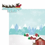 Reindeer: Dashing through the Snow 2 Piece Laser Die Cut Kit