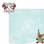 Reindeer: Merry and Bright 2 Piece Laser Die Cut Kit