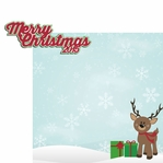 Reindeer: Merry Christmas 2015 2 Piece Laser Die Cut Kit