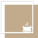 Rise and Shine: Cup O' Joe 12 x 12 Overlay Bazzill Quick Page Laser Die Cut