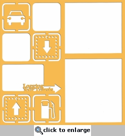 Road Trip: Logging Your Travels 12 x 12 Overlay Laser Die Cut