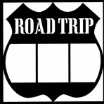 Road Trip Sign 12 x 12 Overlay Laser Die Cut