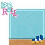Roller Skating: Let's Roll 2 Piece Laser Die Cut Kit