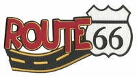 Route 66 Sign And Road Laser Die Cut