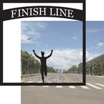 Running: Finish Line 12 x 12 Overlay Quick Page Laser Die Cut