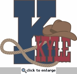 Saddle Up: Custom Cowboy Initial and Name Laser Die Cut