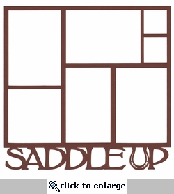 Saddle Up Horseshoe 12 x 12 Overlay Laser Die Cut