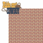 Saddle Up: Ride em' Cowboy 2 Piece Laser Die Cut Kit
