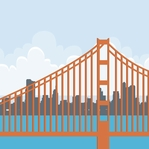 San Fran: Golden Gate 12 x 12 Paper