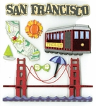 SAN FRANCISCO DIMENSIONAL STICKER �