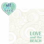 Sandy Toes: All You Need 2 Piece Laser Die Cut Kit