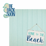 Sandy Toes: Gone To The Beach 2 Piece Laser Die Cut Kit