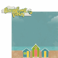 Sandy Toes: Oceanfront 2 Piece Laser Die Cut Kit