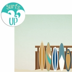 Sandy Toes: Surf's Up 2 Piece Laser Die Cut Kit