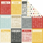 Say Cheese: Bingo Cards/Stars Simple Basic 12 x 12 Double Sided Cardstock