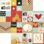Say Cheese II: 2x2 & 4x4 Gold Foil Elements 12 x 12 Cardstock