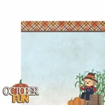 Scarecrow: October Fun 2 Piece Laser Die Cut Kit