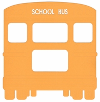 School: Bus 11 x 11 Overlay Laser Die Cut