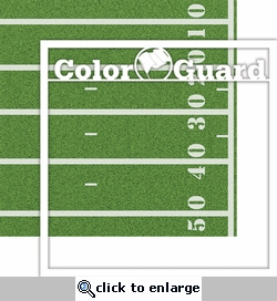 School: Custom Color Guard 12 x 12 Overlay Quick page Laser Die Cut