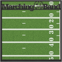 School: Custom Marching Band 12 x 12 Overlay Quick page Laser Die Cut