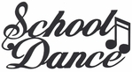 School Dance Laser Die Cut