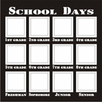 School Days 12 x 12  Frame