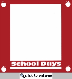 School Days 12 x 12 Overlay Laser Die Cut